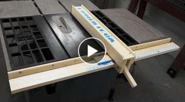 How To Make A Wooden Table Saw Fence