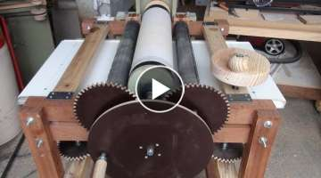 Drum Sander - Synchronize Feed Rollers; Assembly and Installation