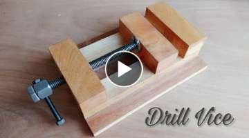 Making A Drill Press Vice || How To Make Wooden Vice