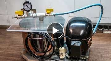 DIY Vacuum Pump And Chamber