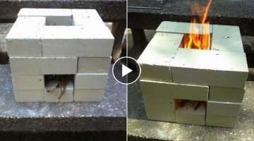How To Make a Brick Rocket Stove for $7.00