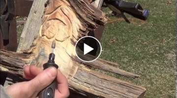 How to Carve a Wood Spirit out of a Pine Knot