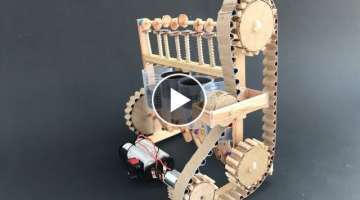 How the four cylinder engine model - DIY with cardboard