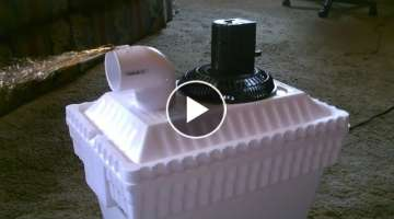 Homemade Solar Powered Air Cooler for $15
