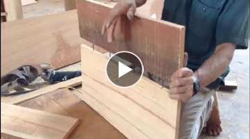 Amazing Woodworking Perfect - Making a Wood Table from a Logs