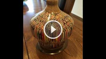 THE LARGE PENCIL VASE WOODTURNING PROJECT