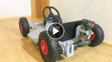 DIY Drill powered Go Kart