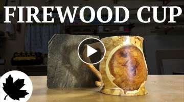 TURN A LOG INTO A CUP |x| WOODWORKING HOW TO