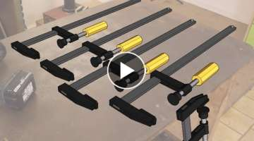 Making long F-Clamps | Homemade Clamps | The new Grinder in Action | Patreon Announcement