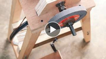 Homemade Project Using Bicycle Wheel || Make A Grinding Machine