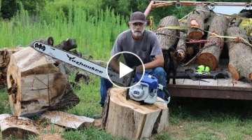 Un Boxing a cheap 105cc Chainsaw