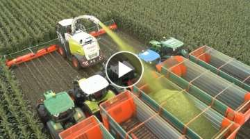 Modern Technology Agriculture Huge Machines