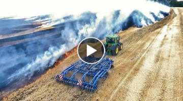 Fire on the field Slovakia 2019