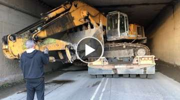 Amazing Transporting By Side The Liebherr 964 - Fasoulas Heavy Transports