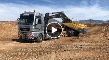 Transporting The Volvo EC700C And Cat D6R - Fasoulas Heavy Transports