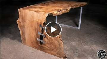 Live Edge Waterfall Coffee Table | Woodworking How-To