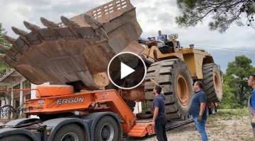 Transporting The Huge Caterpillar 992G Wheel Loader (700 Km Trip) Sotiriadis/Labrianidis Mining