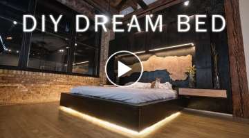 DIY Dream Bed || Modern Bedroom Renovation for my Loft || Woodworking