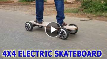 Build a Electric LONGBOARD 4x4 at home (4WD)