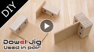 How to make high precision dowel jig for pair use