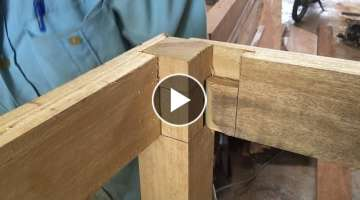 Woodworking Techniques and Skills, Joint Smart and Innovative // Make Extremely Large Wooden Tabl...