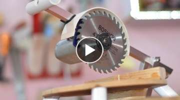 How to make a Powerful Miter Saw using a 12v DC Motor