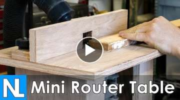 Mini Router Table // Woodworking DIY
