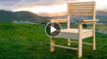 Making a Patio Chair - simple DIY woodworking project
