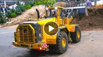 LARGE SCALE RC MACHINES *RC VOLVO 120KG!! WHEEL LOADER*RC CAT DOZER 180KG!! and more..