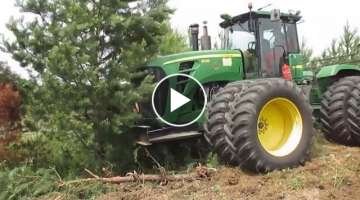 Extreme Tractor Tree Ploughing | #Forest Field #Root Plow | Brush Clearing