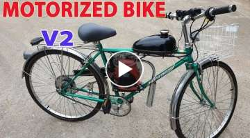 Build a Motorized Bike at home - v2 - Using 4-Stroke 49cc Engine - Tutorial