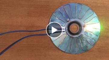 Free Energy 100% , How make solar cell from CD flat