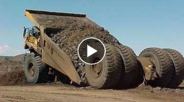 10 Extreme Dangerous Idiots Dump Truck Operator Skill - Biggest Heavy Equipment Machines Working