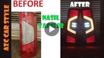 How To Make Led Tail Light with Plexiglass // Ford Connect