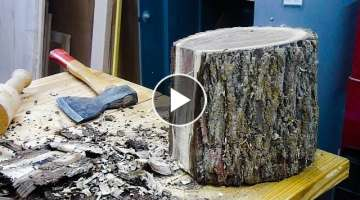 Woodturning a Black Walnut Log into a Bowl