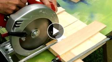 Dado cuts with a circular saw