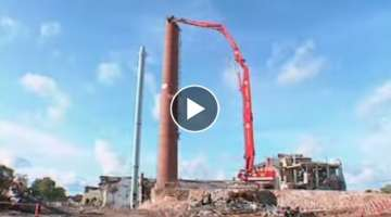 NKR Demolition extreme - supermachine 50 meter long range/ NKR Demolition Group - chimney