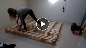 Pallet bed frame - DIY