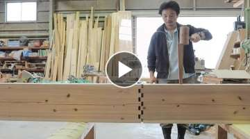 Amazing Techniques Smart Japanese Carpenters Woodworking Skills Ingenious - Incredible Hand Tools