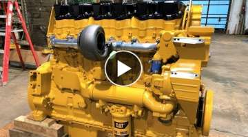 800+ Horsepower 17 Liter Caterpillar Diesel Engine Build from Start to Finish + 1973 Peterbilt
