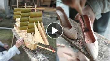 Creative ideas craft bamboo & Wood make amazing artwork