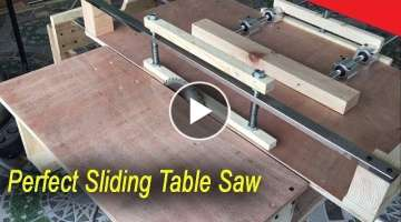 Amazing Perfect Sliding Table Saw Smart Techniques Woodworking DIY Fastest And Easiest