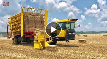 Harvesting Straw Bales New Holland H9870 Stack Cruiser
