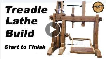 Epic Treadle Lathe Build | Hand Tool Woodworking