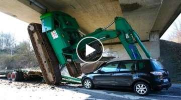 10 Extreme Dangerous Idiots Heavy Equipment Excavator, Truck Fails Skill | Climb Excavator at Wor...