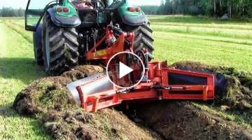 Extreme Fast Trimming Soil Slope Heavy Equipment A Harvester For Cleaning Drainage Ditches Machi...