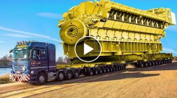 10 Extreme Dangerous Transport Operations Truck - World's Biggest Heavy Equipment Machines Workin...