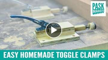 Easy Homemade Toggle Clamps - from Paint Can Locking Ring