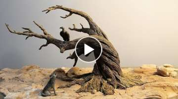 How to Make a Dead Tree | Diorama | Driftwood