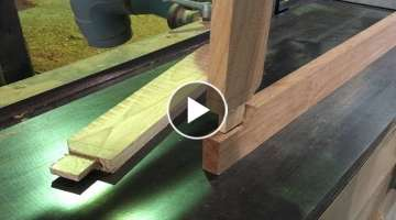 Amazing Woodworking Skill Of Creating Wooden Joints // Joints For Wooden Frames Extremely Easy